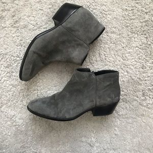 Sam Edelman gray suede boots